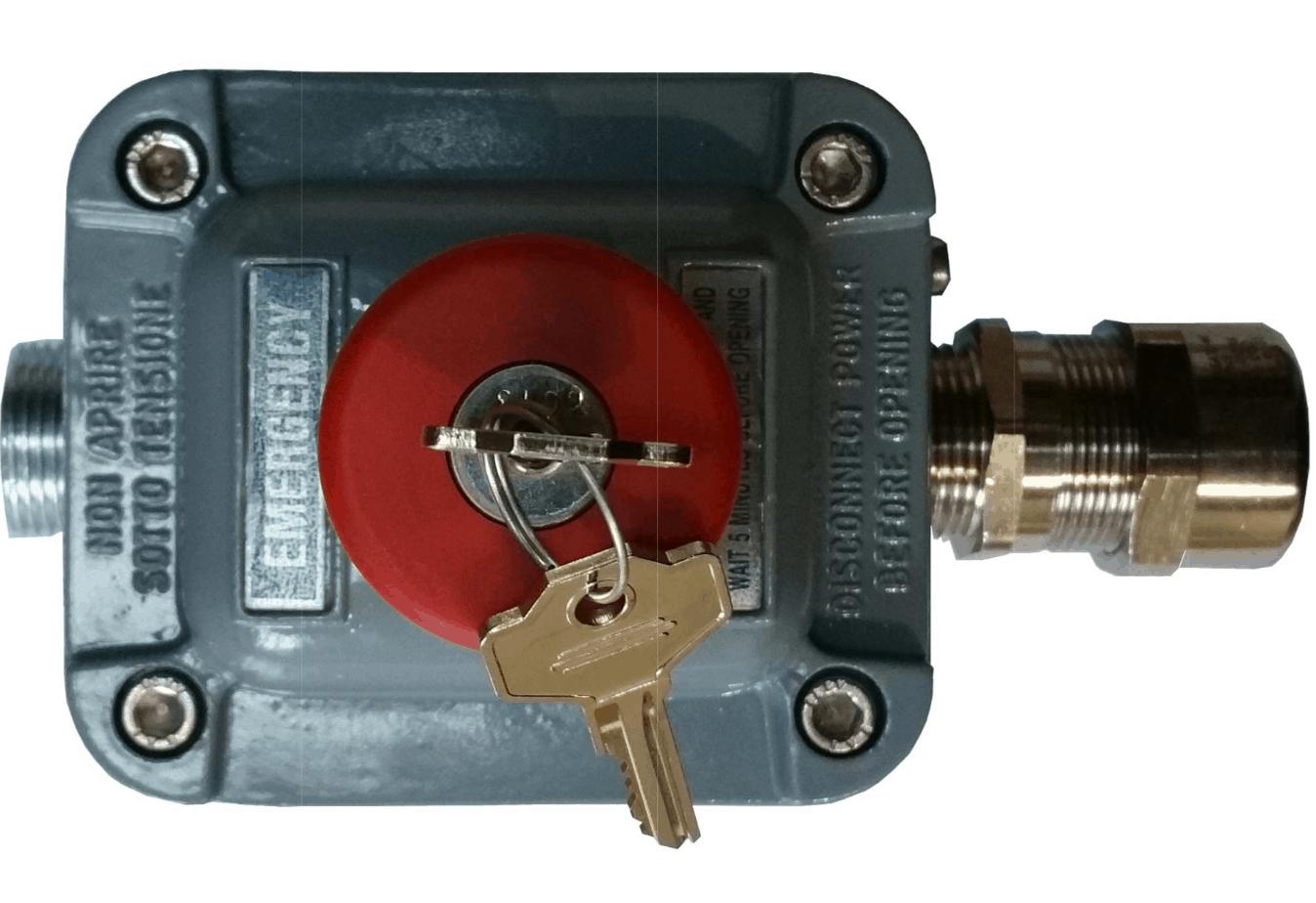 PB1-8k Boîtier d'arrêt d'urgence à clé