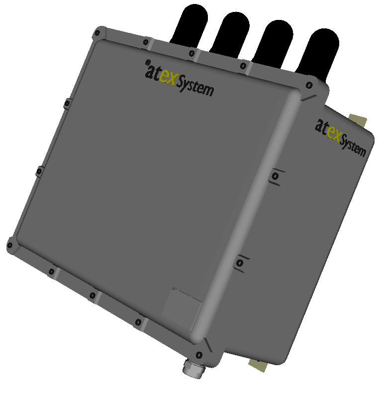 EXAP3700_4A – Coffret access point MIMO 4 antennes WIFI 2.4GHz